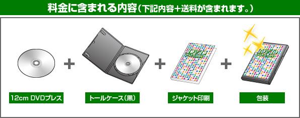 DVD完全パッケージの料金に含まれる内容