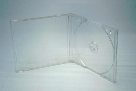 CDジュエルケース透明(厚さ10mm)開いた状態