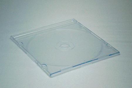 CDスリムケース透明(厚さ5mm)閉じた状態