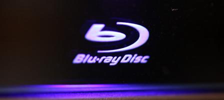 青紫に光るBlu-rayDiscのロゴマーク